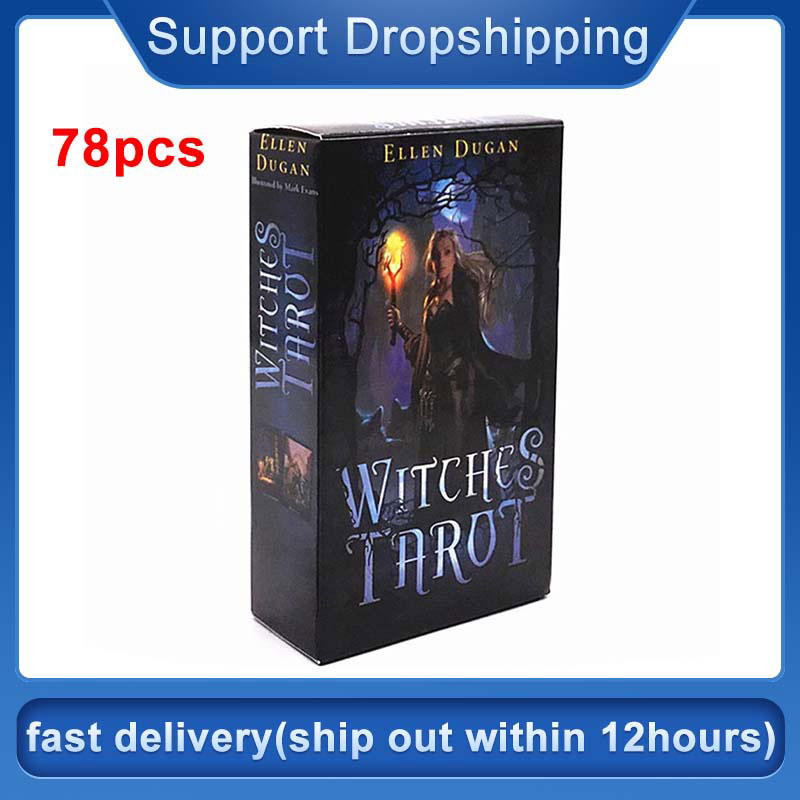 78PCS High Quality Tarot Cards For Witch Tarot Cards Oracle Card Board Deck Games Palying Cards For Party Game Drop Shipping