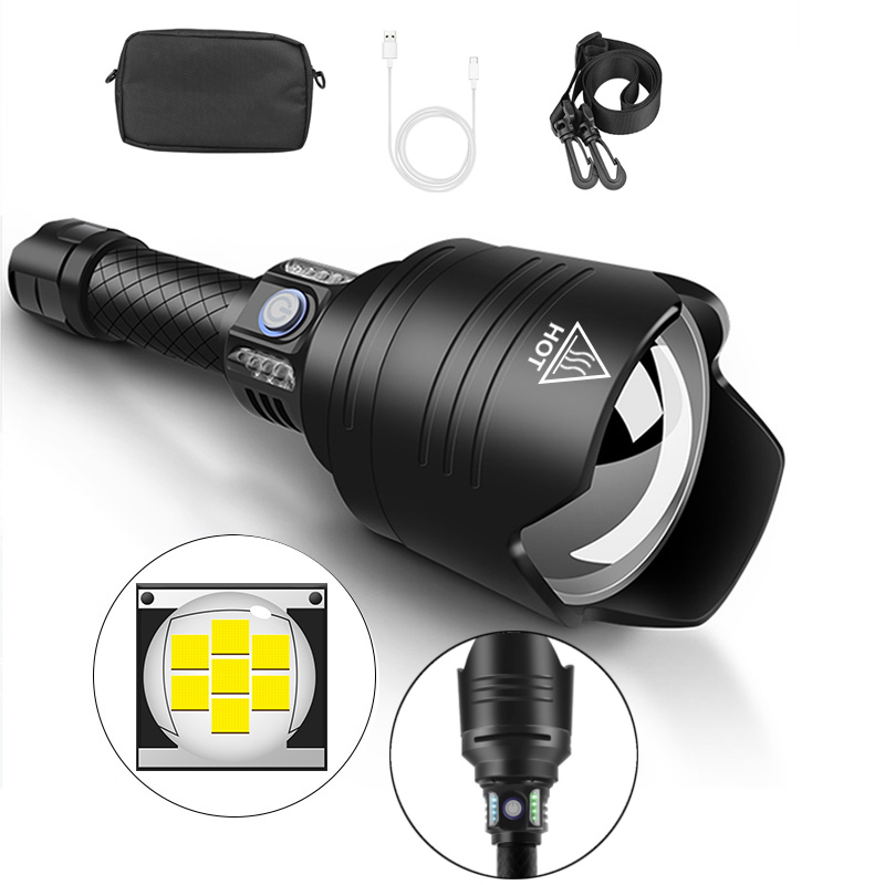 XANES X915 P10 Telescopic Zoom Flashlight 4 Modes Waterproof With 18650 Battery Torch Light Camping Lantern Lamp Spotlights