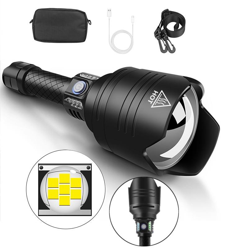 XANES X915 P10 Telescopic Zoom Flashlight 4 Modes Waterproof With 18650 Battery Torch Light Camping Lantern Lamp Spotlights