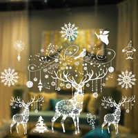 Gran tamaño Navidad decoración ventana pegatina Navidad ventana decoración para el hogar Navidad adornos Navidad Fiesta Navidad 2019
