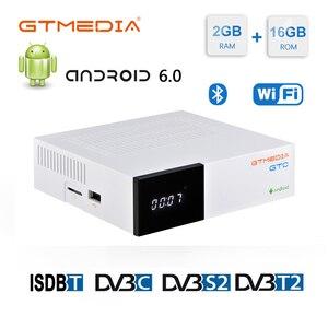 Image 1 - GTmedia GTC FTA לווין מקלט DVB S2 ביס VU קולט DVB C טיונר dvb T2 4K אנדרואיד טלוויזיה תיבת ISDB T bluetooth 4.0 מפענח