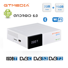 GTmedia GTC FTA Satellite Receiver DVB S2 Biss VU Receptor DVB C Tuner dvb T2 4K Android tv box ISDB T Bluetooth 4.0 Decoder