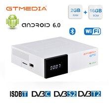 Récepteur Satellite GTmedia GTC ale DVB S2 Biss VU récepteur DVB C Tuner dvb T2 4K Android tv box ISDB T décodeur Bluetooth 4.0