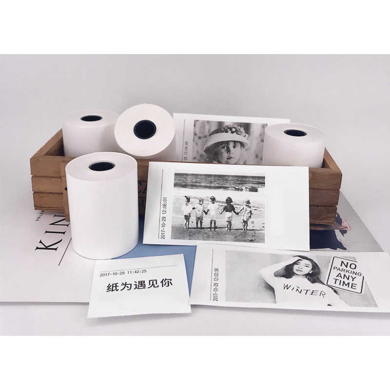 3 adet 80mm termal etiket kağıt rulosu için kendinden yapışkanlı Peripage A3 Mini cep fotoğraf notları yazıcı kağıdı