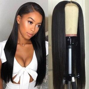 Pelo Asteria 4*4, pelucas de cabello humano con cierre de encaje para mujeres negras, pelo humano liso brasileño, alta proporción de encaje de peluca, tejido de pelo Remy