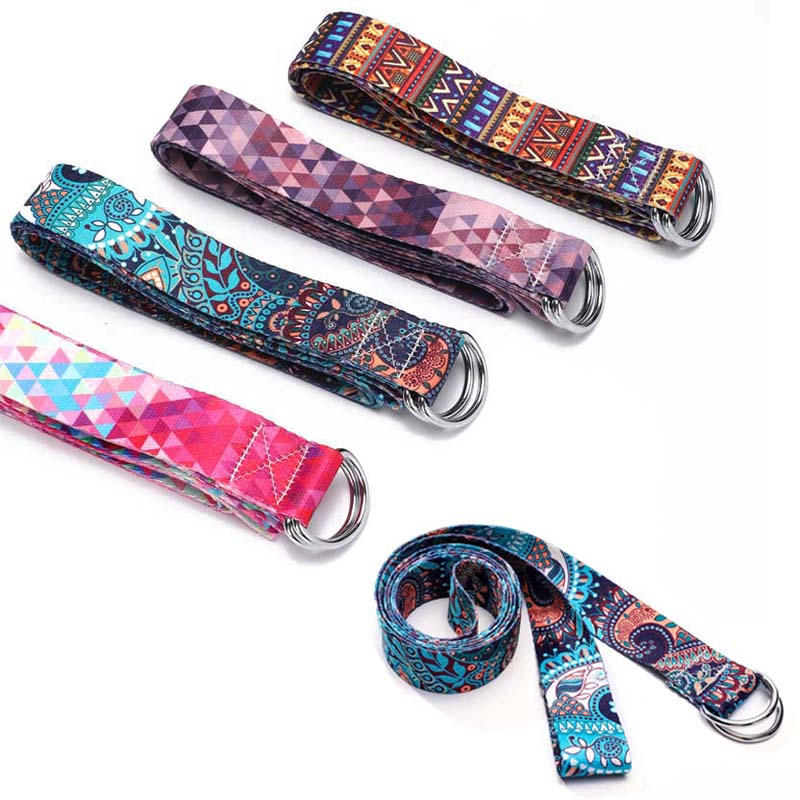 Printed Cotton Yoga Belt Washable Stretch Strap D Ring Belts Yoga Strap Fitness Rope Multi Color Yoga Mat Rope Yoga Stretch Belt Yoga Belts Aliexpress