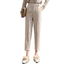Утепленные женские брюки карандаш 2020 на осень весну размера