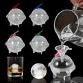 4 шт. 5 см круглая форма для льда в форме шара, сделай сам, изготовитель мороженого, Пластиковая форма для льда, поднос для виски, льда для бара,...