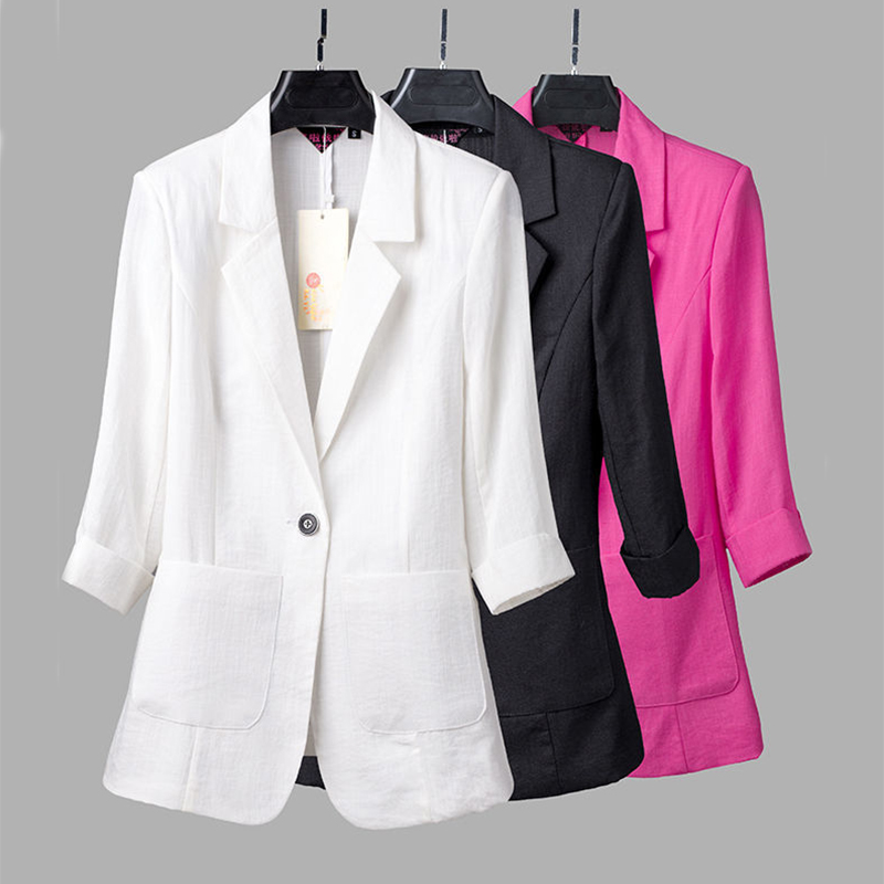 2020 Summer Women Suit Thin 5XL Large Size Clothing Women's Western-Style Body Suit Professional Suit 3/4 Sleeve Women Blazer