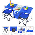 Outdoor Picnic Foldable Multi-function Rolling Cooler Upgraded Stool Blue With Oxford Foldable Stools For Camping Picnic Product