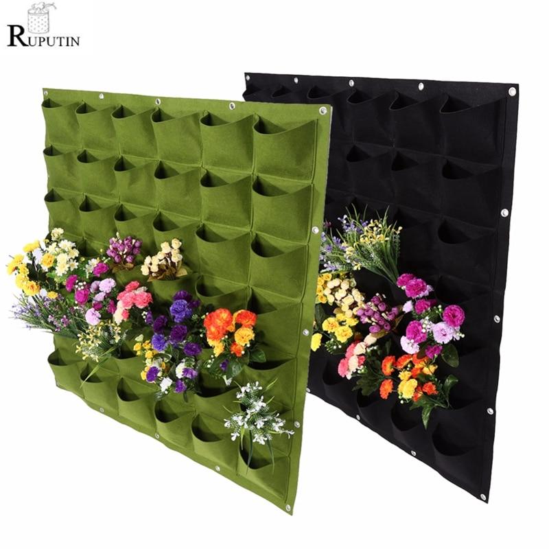 18/36/49 карманы висячая зеленая сумка для выращивания растений вертикальный садовый мешок для выращивания растений сумки для выращивания цве...