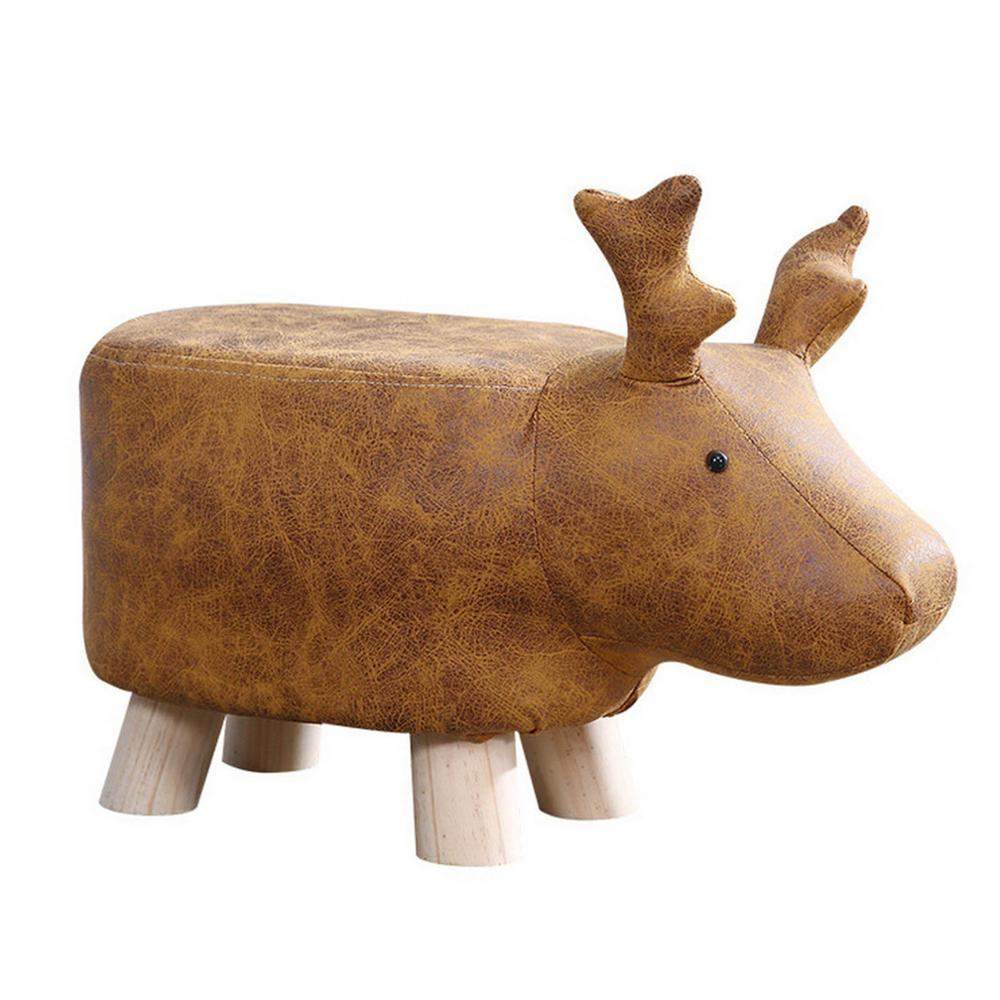 Animal Shape Children's Stool Ottomans Sofa Padded Cushion Pouf Chair Rest Seat Home Dressing Room Bedroom Kids Furniture Decor