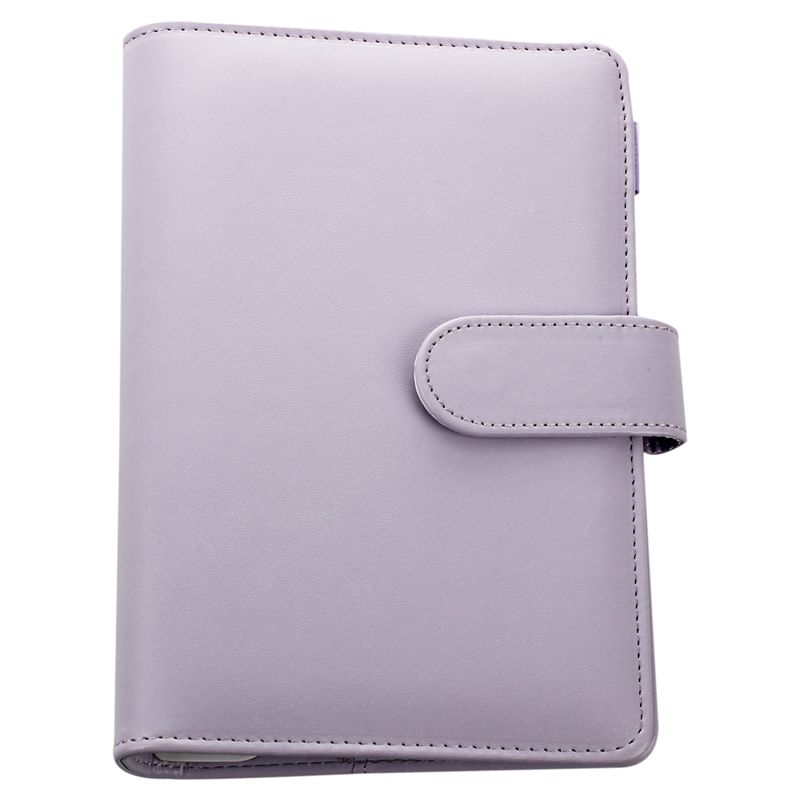 Leather Spiral Notebook Original Office Person Binder Weekly Planner/agenda Organizer Cute Ring Diary Stationery A5 A6 (purple)