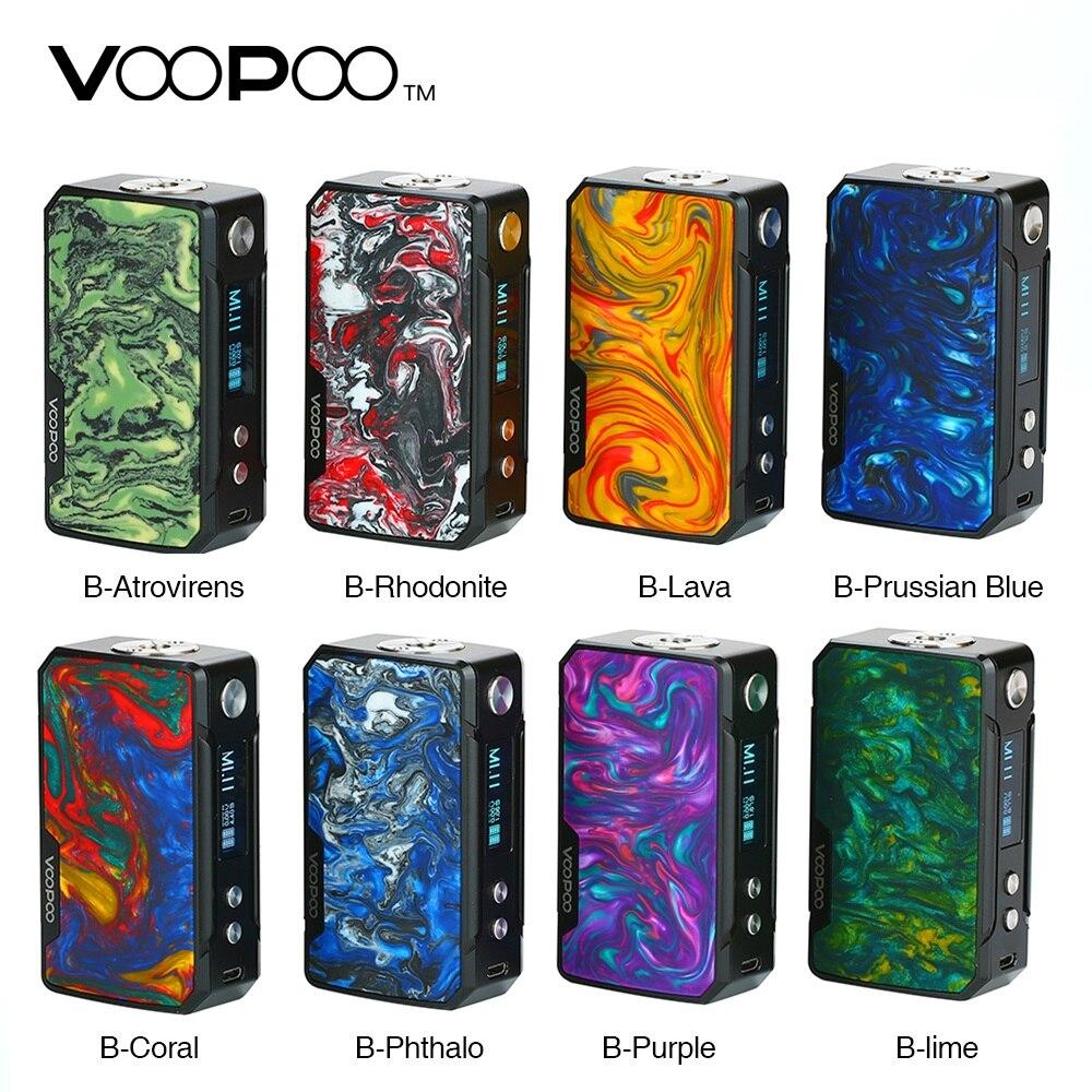 100% Original VOOPOO glisser Mini 117W TC boîte MOD 4400mAh batterie intégrée FIT Chipse117W sortie mise à niveau Firmware Ecig Vape Mod