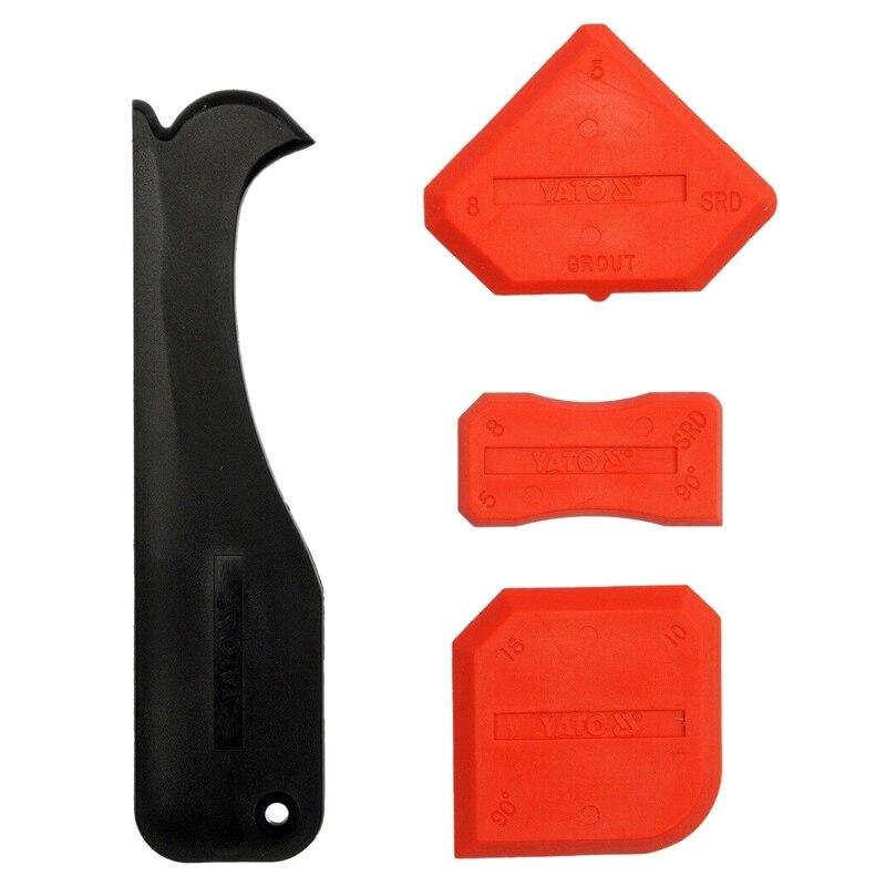 4 Piece Set Of Silicone Beauty Seam Glass Glue Cleaning Shovel Glue Yin Angle Scraper Glass Shovel Remove Residual Glue Scraper