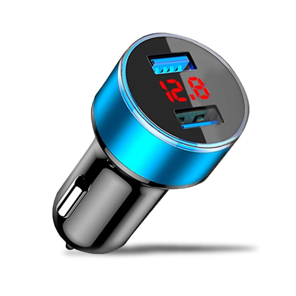 Универсальное быстрое двойной Переходник USB для зарядки в машине светодиодный Дисплей 5V 3.1A Авто из АБС-пластика для iPhone для huawei p30