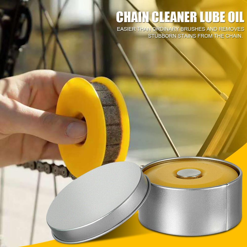 Motorcycle Bicycle Chain Cleaner Wool Oil Lubricator Bike Chain Oiler Roller  Bike Parts Lubricant W/Magnet Chain Repair Tools