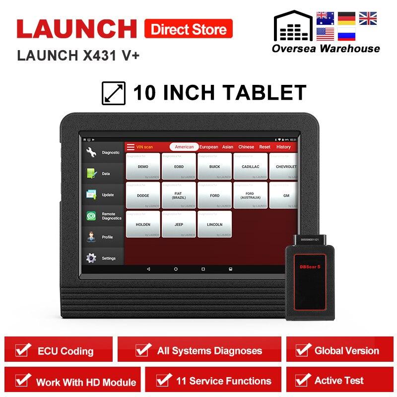 Originale Del Lancio X431 V + 10 pollici Tablet Professionale Auto Strumento Diagnostico auto Scan Pad Automotive Scanner Universale ECU di Codifica