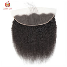 Lace-Frontal Human-Hair Straight Applegirl for Choice Brazilian Remy 13 4-Szie 8-To-20inch