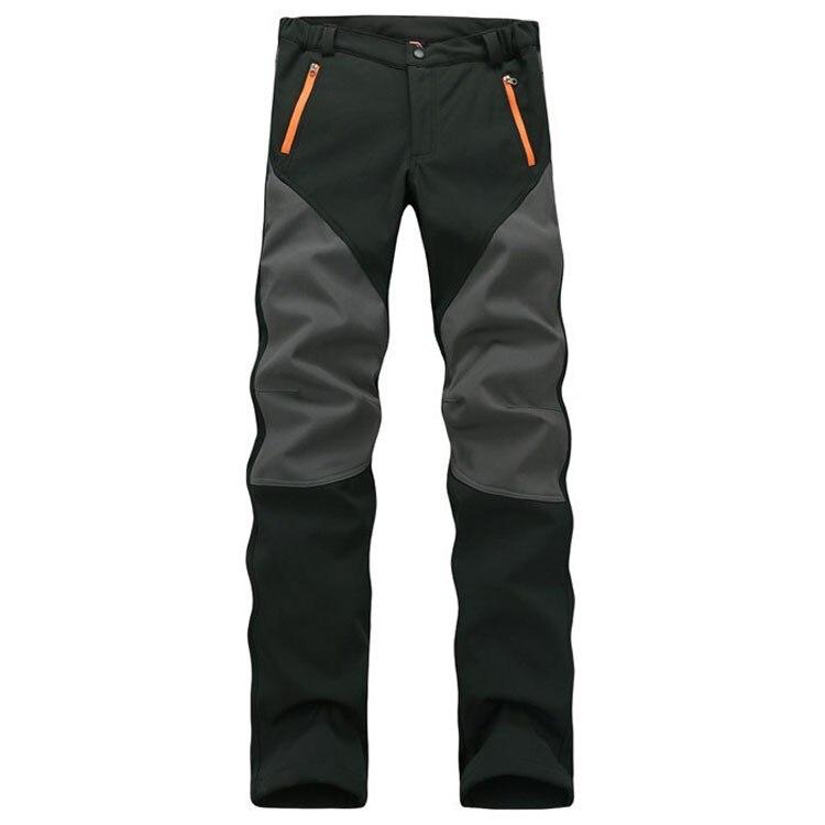 2019 New Winter Autumn Men's Fleece SoftShell Windproof Pants Casual High Quality Pants