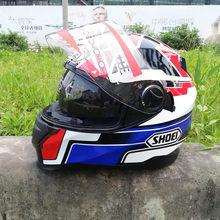 Unisex capacete da motocicleta rosto cheio moto bicicleta estrada pinlock viseira lente dupla para 4 estações ece aprovado