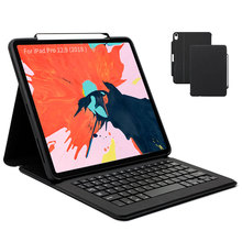 Business For iPad Pro 11 Case Keyboard Smart Ultra Slim PU Leather Folio Cover for iPad Pro 11 inch 11
