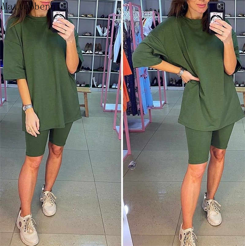 Frauen fashion casual solide zweiteilige anzug einschließlich gürtel Neue hause lose Tops und Shorts anzug 2020 Sommer Trainingsanzug Lounge tragen