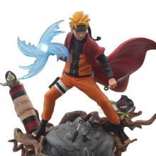 29cm colección japonesa Anime en miniatura Naruto GK estatua Uzumaki Naruto Sennin versión del modelo de Pvc figuras de acción de juguete