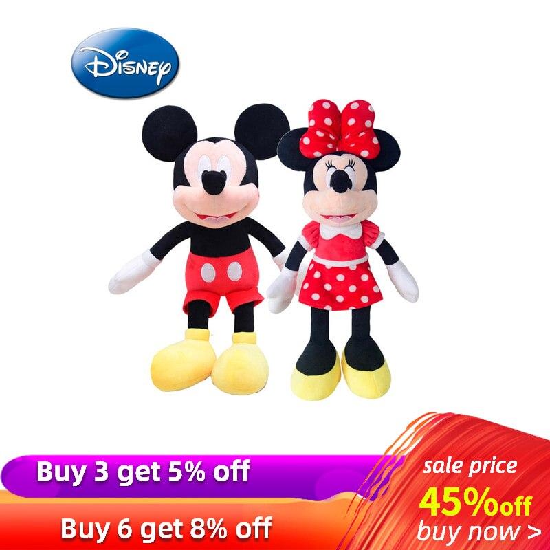 42cm Disney Mickey Mouse Minnie Animal Stuffed Plush Toys Kawaii Doll for Children Kid Girl Birthday Gift  Original