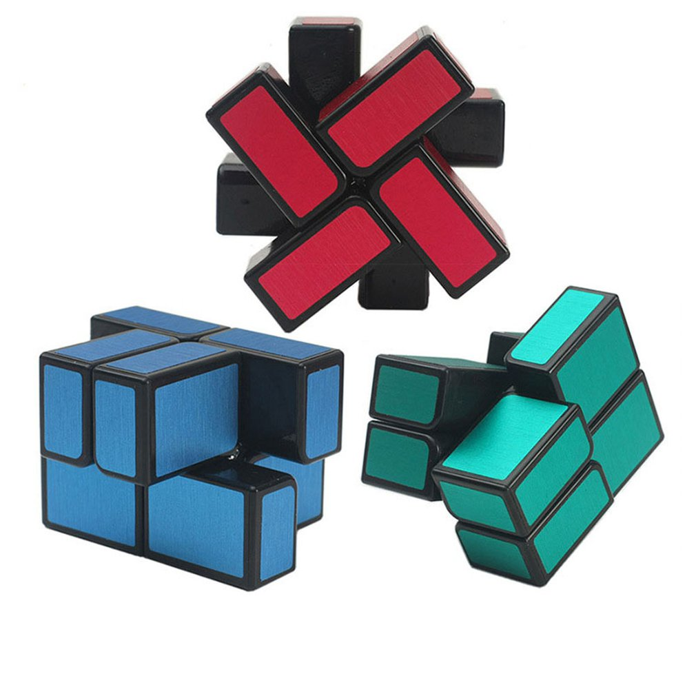 2x2 Cube Mirror 2x2x2 Magic Cube 2 Layers Speed Cube With The Magnetic Bar Drop Shipping Professional Puzzle Toy For Kids Gift