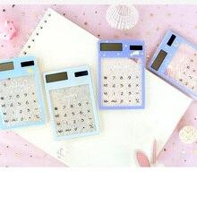 Новые креативные канцелярские принадлежности, цветущая вишня сезон, звезда, песок дрейф прозрачный калькулятор