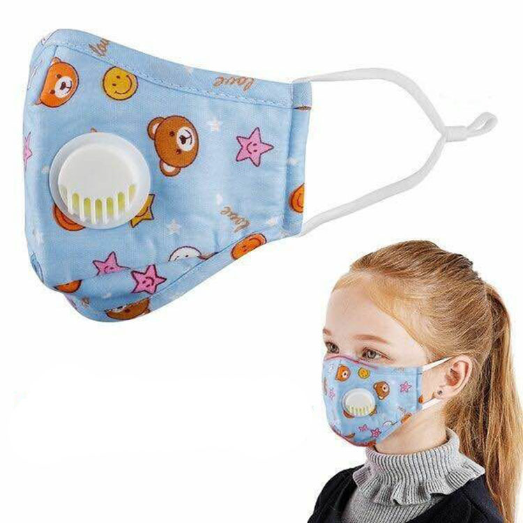 NADANBAO Cute Cartoon Chlidren's Masks Kid's Dust-proof Anti-fog Face Mask Breathing Valve Breathable Mask Stereoscopic