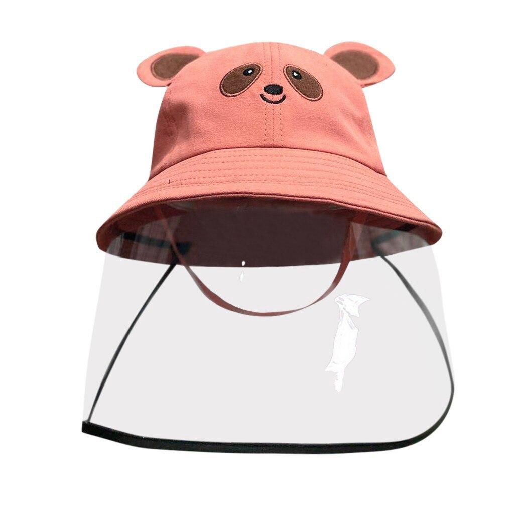 Anti-spitting Powder Wind Sand Mask Dustproof Cover Kids Boys Girls Fisherman Cap Hat Anti-UV Multi-function Protective Cap #B