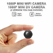 Mini cámara HD de 1080P con visión nocturna, DV, WiFi, versión 2, videocámara pequeña, compatible con tarjeta TF oculta