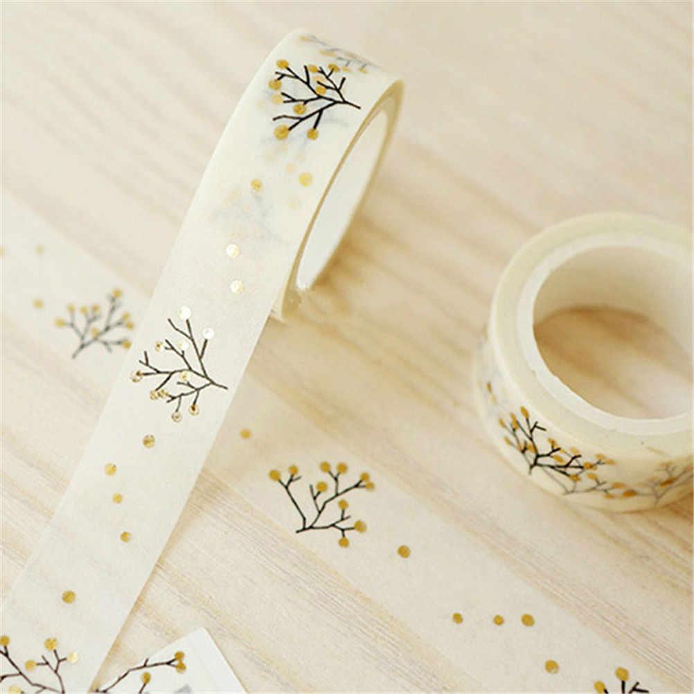 1X 1.5cm x 5m décoratif kawaii or souhaitant arbre Washi ruban bricolage Scrapbooking ruban de masquage école fournitures de bureau