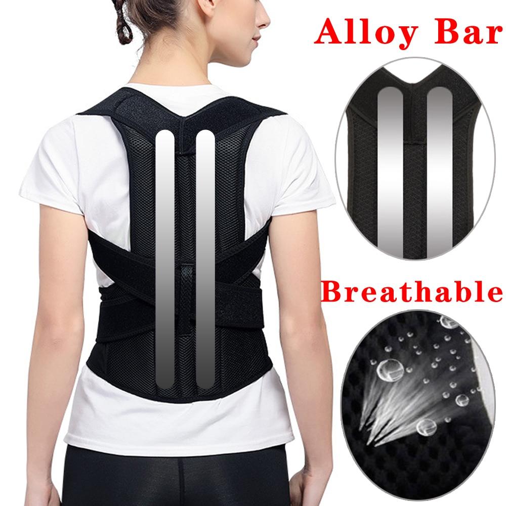 Корсет для спины, Корректор осанки, регулируемый пояс для поддержки спины, плеч, талии, корсет, Улучшение осанки, предотвращение сутулости, облегчение боли|Брекеты и подставки| | АлиЭкспресс