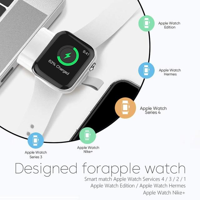 Mini Portable Wireless Charger for Apple iWatch 1 2 3 4 5 Dock Adapter Fast Charging Charger Smart Watch Wireless Charging Base 5