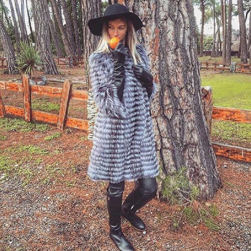 2019New réel renard Animal fourrure armure léger mode de luxe chaud épais Animal dame manteau longue veste printemps