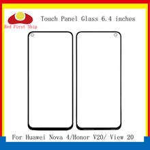 10Pcs/lot Touch Screen For Huawei Nova 4 Honor View 20 Panel Front Outer Glass Lens Touchscreen NO LCD V20