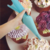 8pcs/set silicone pastry bag kitchen accessories tools diy reusable pastry home gadget baking tools for cake decorating nozzle
