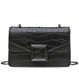 Image 5 - 2021 женские сумки через плечо из искусственной кожи с каменным узором, маленькая простая сумка через плечо, женские роскошные сумки и кошельки с цепочкой