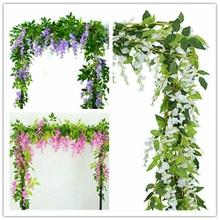 New 2020 Plastic Artificial Wisteria Flower Decoration Flower Wisteria
