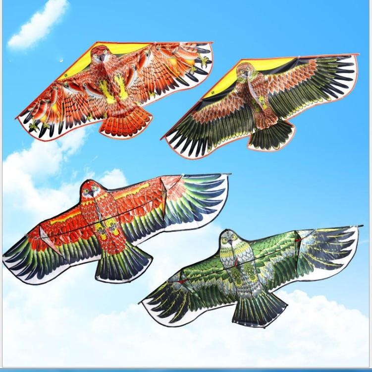 Family Outdoor Fun Sports Flying Eagle Kite Novelty Eagle Kite Flying Easy Control Good Flying For Kids Toys Gift Random Colour