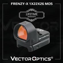 Vector Optics-mira de punto rojo Frenzy-X 1x22x26 MOS, colimador de caza, compatible con pistola Glock 17, 9mm, 223, 300Win, IPX6, vibración