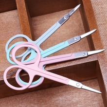 1Pc 8.6cm Metal  Eyebrow Nose Hair Scissors Cut Manicure Facial Trimming Tweezer Nail Tools For Makeup Beauty Tool