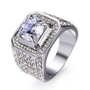 FDLK Engagement-Rings CZ Full-Crystal-Ring Iced-Out Gold White Women Pinky Hip-Hop Size-5-13