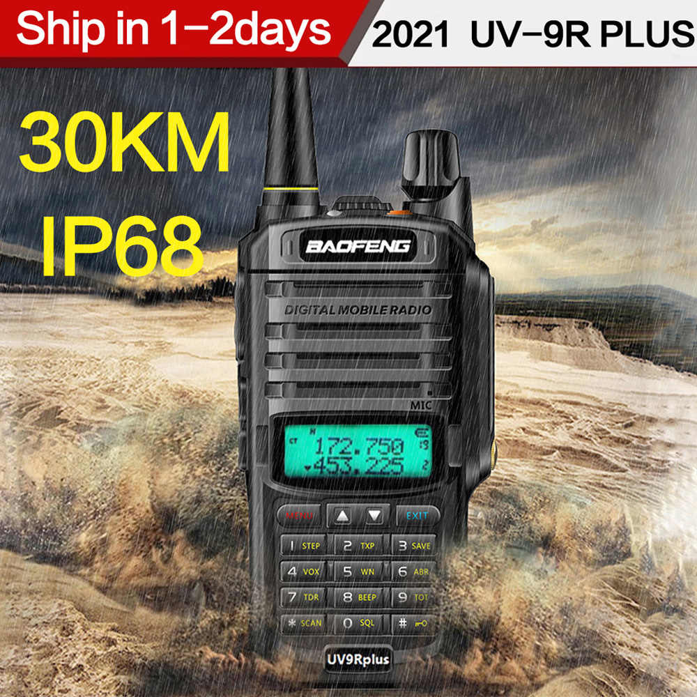 2021 Baofeng UV-9R Plus Waterdichte IP68 Walkie Talkie High Power Cb Ham 30-50Km Lange Bereik UV9R Draagbare twee Manier Radio