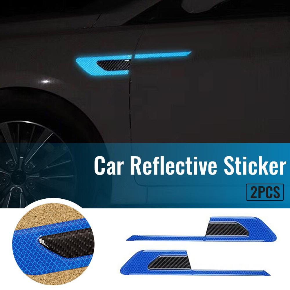 Reflective Warning Strip Tape Car Bumper Reflector Stickers Decals Safety 2X//Set