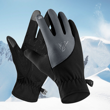 Winter Outdoor Warm Gloves Unisex Windproof Motorcycle Full Finger Lightweight Cold Weather Cycling Jogging Breathable
