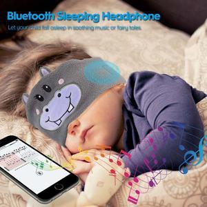 Image 3 - JINSERTA Cute Kid Bluetooth Headphone Sleep Mask Bluetooth 5.0 Stereo Music Player Support Handsfree Soft Headband for Phone